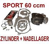 60 ccm SPORT ZYLINDER KIT KOMPLETT NADELLAGER für EXPLORER TWISTER KALLIO 50