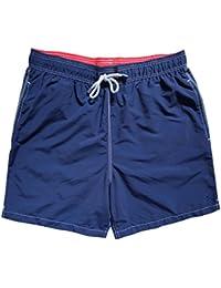 1735f9eefc Hackett London Men's Solid Signature Embroidered Logo Swim Shorts