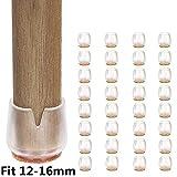 32pcs Della sedia Cappellini piedini in gomma Protector Pad, adatti per gambe tonde 12-16mm, Pavimento in legno di silicone rotondo protetto per la casa, soggiorno, camera da letto, cucina