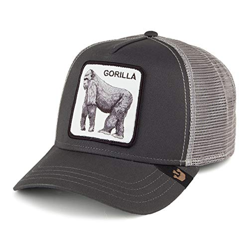 Goorin Brothers King of The Jungle Trucker Cap - Schwarz - Einstellbar 027617bcdbf5