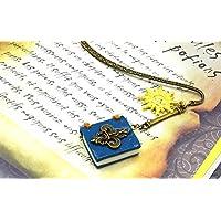 """Marque-page grimoire emblème Roi de France""""Louis IV"""" le Roi SOLEIL, mini livre fleurs de lys emblème armoiries de la Cour du Roi de France, bookmark gift, marque-page vieux livre, marque-page métal"""