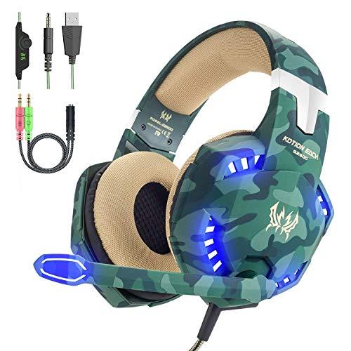 VersionTECH. Cuffie da gaming cablate con microfono jack da 35 riduzione del rumore bassi aumentati e controllo del volume per PS4 Xbox One Nintendo