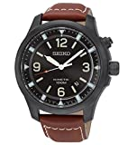 Seiko SKA691P1 Kinetic  - Wristwatch men's, Leather, Band Colour: chocolate