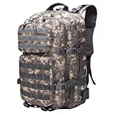 SANLAHG Military Tactical Attack Backpack - 45L Waterproof Daily Bag with Multiple MOLLE Attachment Points For Additional Accessories and Equipment