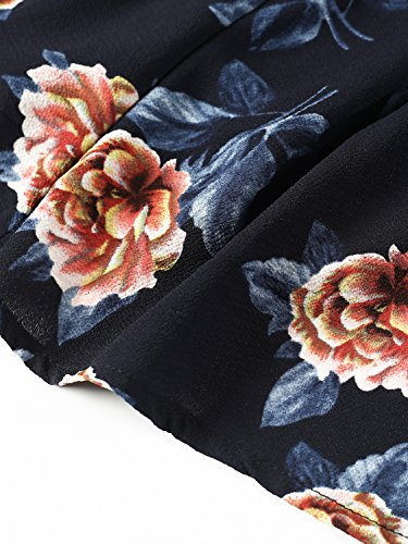 Simplee Apparel - Robe - Portefeuille - Femme Bleu Marine