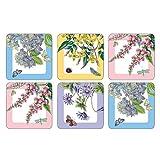 Pimpernel Botanic Garden Terrace Coasters - Set of 6
