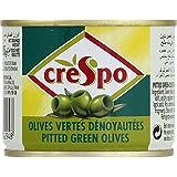 Crespo - Olives vertes dénoyautées - La boîte de 185g - Prix Unitaire - Livraison Gratuit Sous 3 Jours