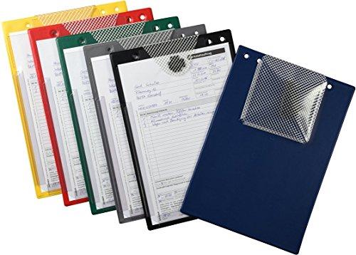 Preisvergleich Produktbild 10 Auftragstaschen XXL mit extra großer Dehnfalte für Serviceheft und Bordbücher (blau)