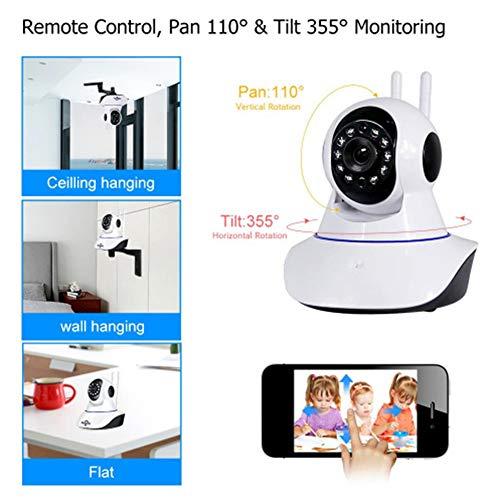 Jjjjy Überwachungskamera 1536P W-LAN IP Zuhause Überwachung Drahtlose,PTZ Monitor mit Bewegungserkennung Zweiwege-Audio Nachtsicht für Baby/Elder/Pet - Ptz Dvr Mit