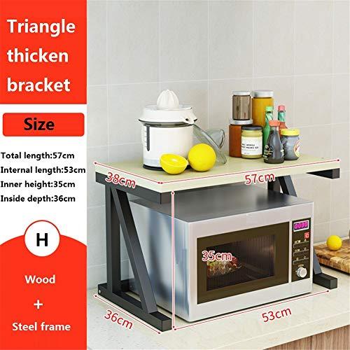 DENG&JQ Küche Rack Mikrowellenregal,küchenzubehör Boden Multi-Layer Gewürz-lagerregal