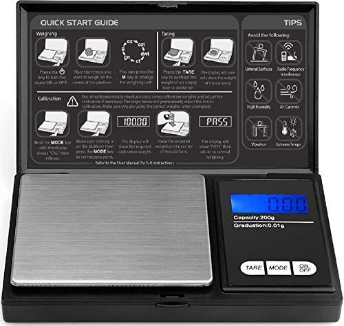 Peso Bascula de Precision 200g - 0.01g (Baterias incluidas)