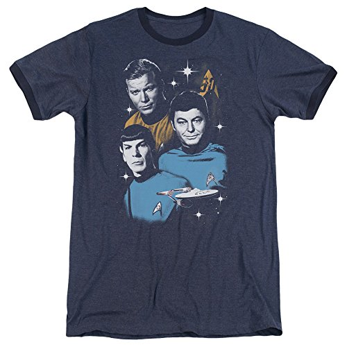 Star Trek Herren T-Shirt Navy