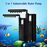 GreenSun LED Lighting Mini 3 in 1 Teichpumpe Filterpumpe Pumpe Submersible Aquariumpumpe Innenfilter Aquarium Submersible Water Pump 2W Pumpendurchfluss 300 L/H