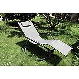 VARILANDO moderne Schaukelliege aus Stahl und Textilene Gartenliege Sonnenliege