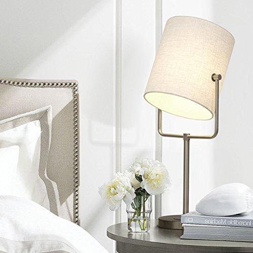 Tabellen-Lampen-Schlafzimmer-Nachttisch Kreative Art- Und Weiseeinfache Moderne Nordische Tabellen-Lampen-Wohnzimmer-europäische Nachtlampe (Farbe : Weiß-23 * 64CM) - 64 Tabelle Lampe