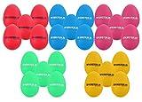 25x Kirstein ES-10 Egg Shaker Mix Set (5 verschiedene Farben, Schüttelei, Percussion, Rassel, robuste Kunststoff-Hülle, durchsetzungsfähiger Klang)