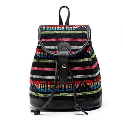 LILICAT 2017 Neu Damen Rucksack Kleine Daypack Frauen Backpack Vintage Handtasche PU Leder Schule für Reise Shopping Business (B) (Canvas-sommer-tote)