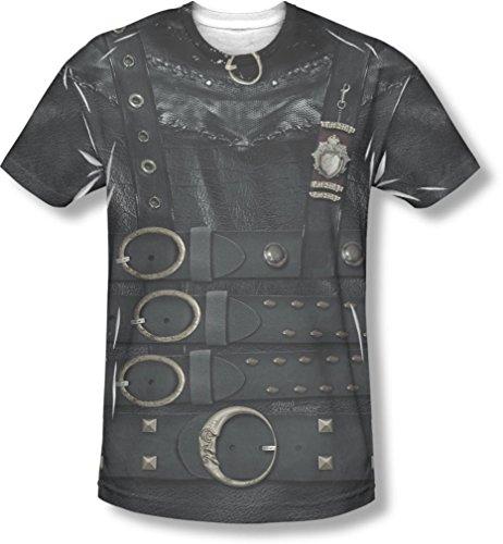 Scissorhand Edward Kostüm - Edward Scissorhands - Herren-Edward-Kostüm-T-Shirt, Medium, White