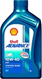 #3: Shell Advance AX7 550042982 10W-40 API SM Synthetic Technology Motorbike Engine Oil (1 L)
