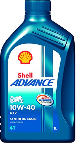 Shell Advance AX7 550031394 10W-40 Synthetic Technology Motorbike Engine Oil...