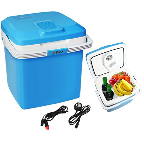 Vivo 26L Electric Coolbox Cooler Hot Cold Portable Cool Box Car Home 240V AC & 12V DC