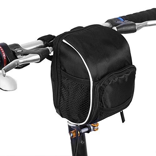 Alomejor Lenker Fahrradtasche Fahrradtasche mit Regenschutz Polster Reflexstreifen Fahrradtasche Vorne Gepäckkorb Tasche für Radfahren Fahrrad Mountain Road MTB