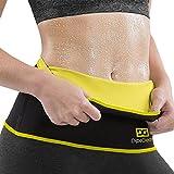 593d6b47d8 DipsGear Neoprene Neotex Fabric Non-Tearable Sweat Slim Belt Body Shaper  (Black and Yellow