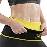 #4: DipsGear - Sweat Slim Belt Premium Series Hot Body Shaper | Non Tearable | Best High Quality Neoprene Neotex Fabric - 2.5 mm Thickness | Unisex For Men and Women - Perfect for Waist Slimming Weight Loss - Size - S M L XL XXL XXXL XXXXL