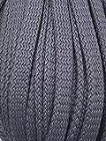 Slantastoffe 5m Kordel Polyester 8mm flach Schnur Turnbeutel Seil 9 Farben (Grau)