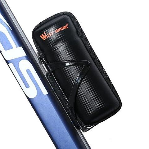 West Biking étui à fermeture Éclair Outil Sac pour bouteille d'eau Cage Noir - Black StyleA