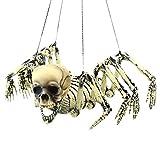ZRSZ Scheletro di Halloween, Otto Artigli Decorazioni di Ragno Set di Appendiabiti da Soffitto Fuga Puntelli Dell'orrore Toy Cemetery Scene Decorazione di Halloween