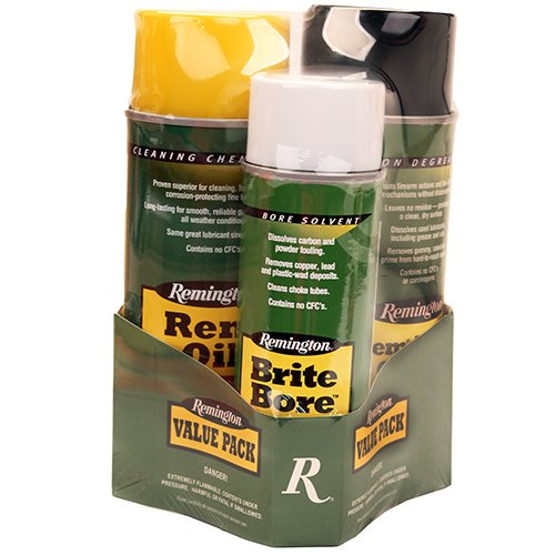 Rem Oil, Brite Bore, Rem Action Cleaner 10 oz., 6 oz., 10 oz. aerosols (Otis Cleaning Kit)