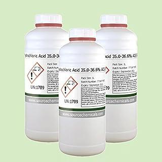 Acetic Acid 99.85% ACS,USP,EP,FCC,FG (Food Grade) 3 x 1 Litre (3L) Including Courier Delivery