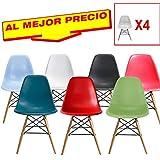 CONJUNTO DE 4 SILLAS INSPIRADA EN TOWER WOOD DE MADERA DE HAYA MODELO VANGUARDIA, DIMENSIONES 46,5 CM ANCHO X 50,1 CM FONDO X 81 CM ALTURA (Blanco)