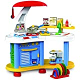 deAO Large Size Kitchen Set for Kids Role Play Game (Red OR Pink)