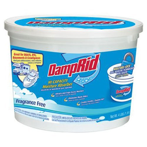 DampRid FG50T Hi-Capacity Moisture Absorber, 4-Pound Tub by DAMPRID