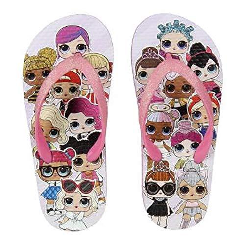 L.O.L. Surprise ! Scarpe Estive per Bambina con Bambole LOL Dolls Diva, Fancy, Rocker | Sandali per Ragazze da Spiaggia | Migliori Ciabatte Piscina, Zoccoli di Gomma Crocs (28/29 EU, Infradito)