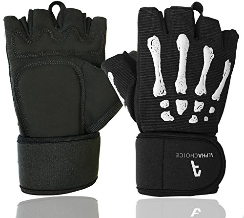 Alphachoice Guantes Gym Muñequera Crossfit Fitness