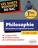 Telecharger Livres Les Sujets Redoutes du Bac Philosophie Tles Toutes Series Dissertations et Explications de Textes 23 Sujets Corriges (PDF,EPUB,MOBI) gratuits en Francaise
