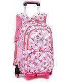 Kids Backpack Trolley Bag - Girls Boys School Bag Children's Backpack Rolling Backpack