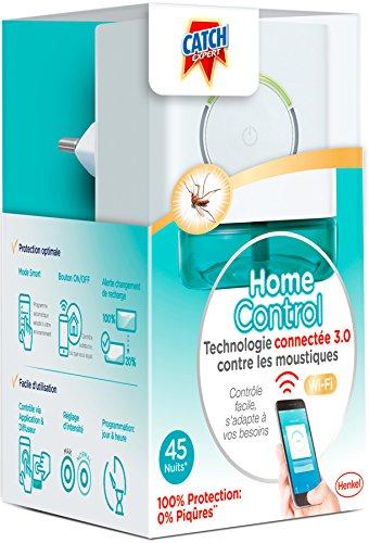 Catch HomeControl Diffuseur Electrique Anti-Moustiques Connecté avec 1 Recharge 45 nuits