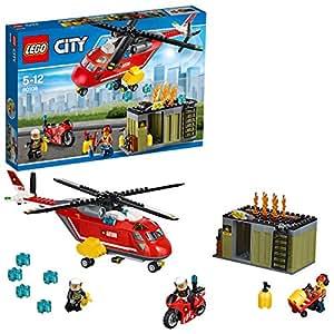 Lego City - L'unité de secours des pompiers - 60108 - Jeu de Construction