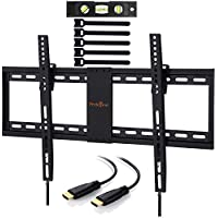 Perlegear TV Wandhalterung Neigbar Für 32-70 Zoll TVs - Hält 60KG Passt LED, LCD, OLED, Plasma, Flachbild TVs, VESA 200x100mm - 600x400mm, mit 1.8m HDMI Kabel