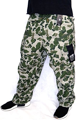 G-STAR RAW G-Star Cargo Hose Rovic Parachute W32/L32 Shamrock/Sage Camoflage Men Cotton