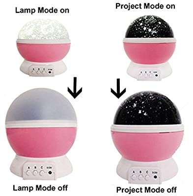 Romantische Rotating Cosmos Star Sky Mond Projektor Bed Lamp Rotation Nacht Kinder Lampe