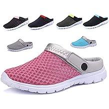 CCZZ Zuecos de Verano para Mujer Hombre Antideslizante Respirable Zapatos Zapatillas Sandalias Chanclas de Playa Ahueca