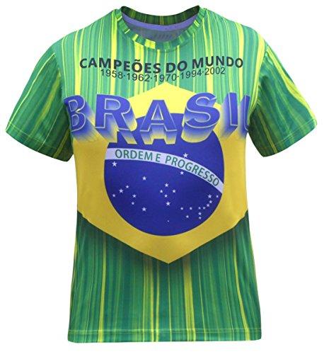 Camisetas de Jersey Brasil Brasil (Talla: 5XL)