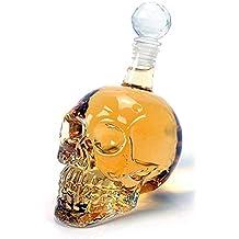 Supmaker Decanter per vino in cristallo Set Caraffa per cranio con tappo per Club Party (350ml)