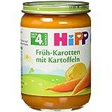 Hipp Früh-Karotten mit Kartoffeln, 6-er Pack (6 x 190 g) - Bio