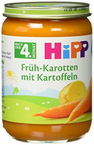 Preisvergleich Produktbild HiPP Früh-Karotten mit Kartoffeln Bio,  6er Pack (6 x 190 g)